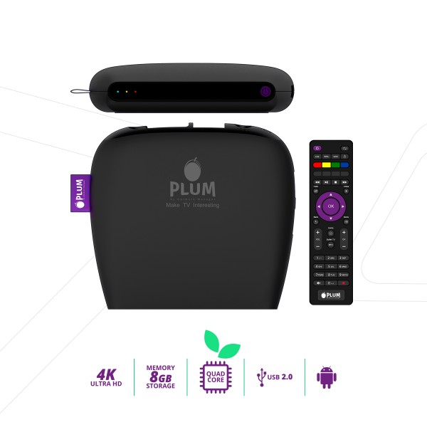 PLUM iTV SMART BOX - Android OS-DV8220-S905X NEW